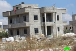 Israeli Notices Target many Structures in Bruqin town/ Salfit Governorate