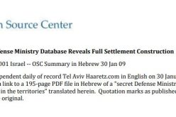 """ARIJ Discloses the """"Secret"""" Israeli Settlements Database on illegal construction in the occupied West Bank"""
