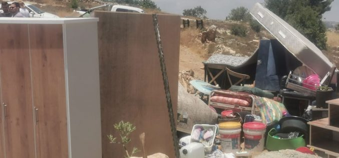 For the Second Time: The Israeli Occupation Demolishes Al-'Ajlouni family home in Halhul north Hebron