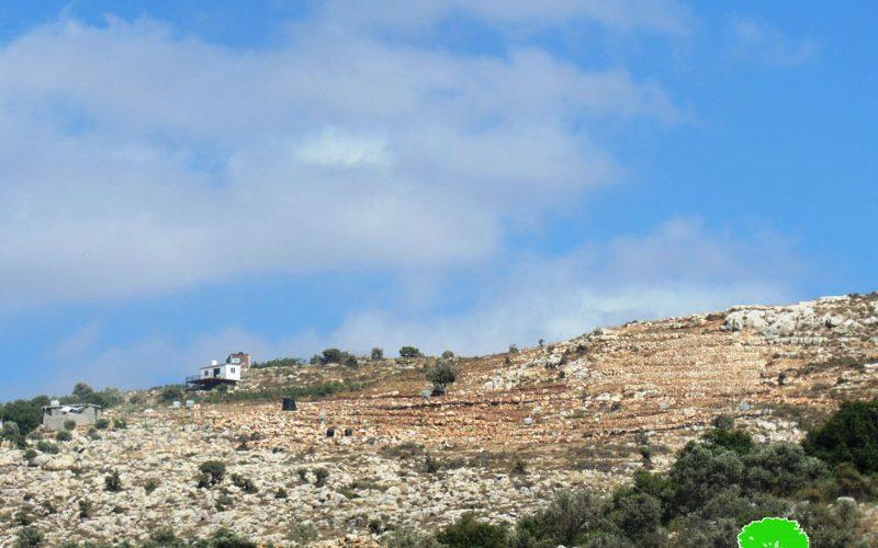 انشاء بؤرة استعمارية جديدة على اراضي بلدة دير ستيا / محافظة سلفيت