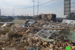Demolishing an Agricultural facility in Haris village / Salfit governorate