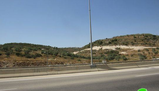 New Colonial road to Be Opened on Sarta Village lands / Salfit Governorate