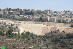 انشاء بؤرة استعمارية جديدة على أراضي بلدة الخضر في محافظة بيت لحم