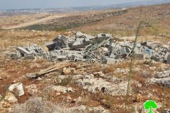 Demolishing an Agricultural Room West Deir Ballout / Salfit Governorate
