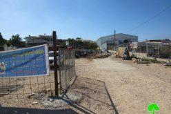 Demolition of a Car Wash and Threatening Another Structure in Jinsafut village / Qalqilya