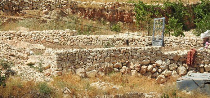 الاحتلال يهدم منزل زراعي بحجة الاعتداء على الآثار في الخضر / محافظة بيت لحم