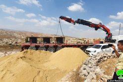 مصادرة شبكة كهرباء في خربة السيميا ببلدة السموع جنوب الخليل