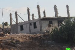 Halt of Work Notice for a House and A Shop in An-Nabi Elyas Village / Qalqilya Governorate