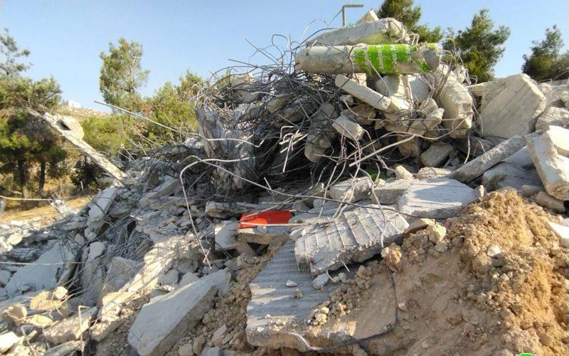 The Israeli Occupation Targets Three houses in Sa'ir /North Hebron