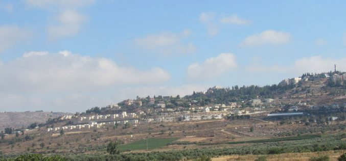 The Israeli Occupation Expands Shiloh Colony on Ramallah and Nablus lands