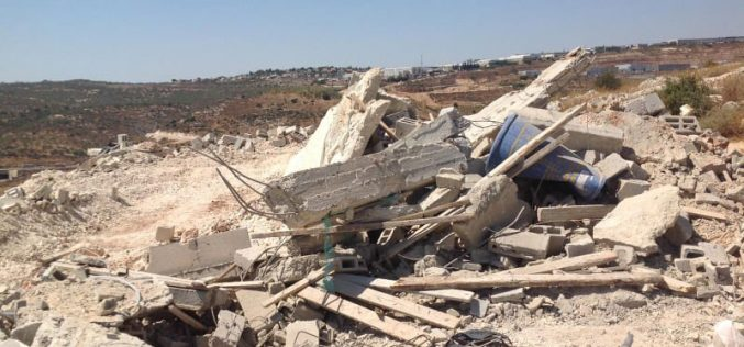 Demolishing an Under Construction House in Bruqin / West Salfit