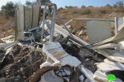 Demolition of Structures and a Barn in Qaffin town / Tulkarm Governorate