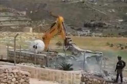 The Israeli Occupation Demolishes a House Belongs to Ja'abis family in Beit Sahur city / Bethlehem Governorate