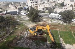 Under-Construction House Leveled in Tuqu' town / Bethlehem governorate