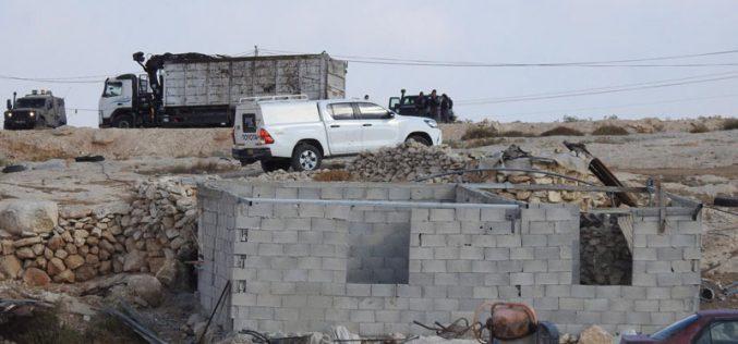 أمر نهائي بهدم مسكن النواجعة في قرية سوسيا جنوب يطا بمحافظة الخليل